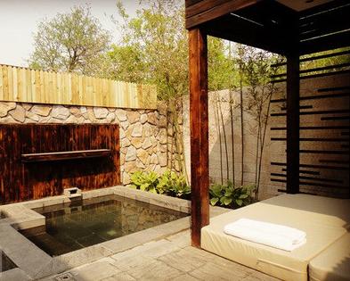 红栌山庄小院温泉
