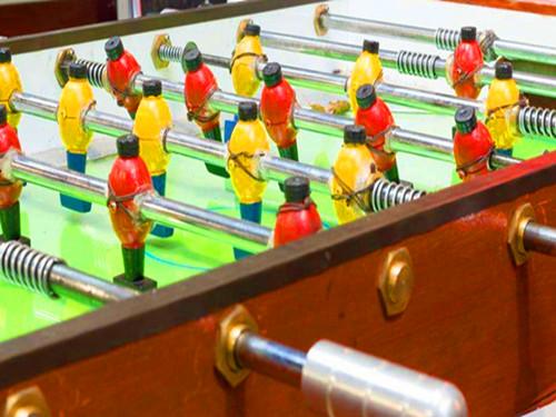 红栌山庄桌上小足球