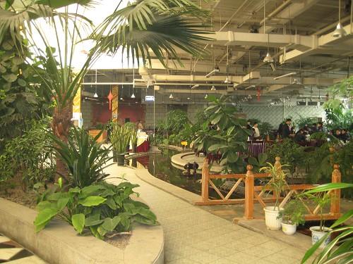 红栌温泉山庄生态美食餐厅内景