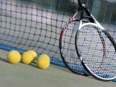 红栌山庄户外网球场